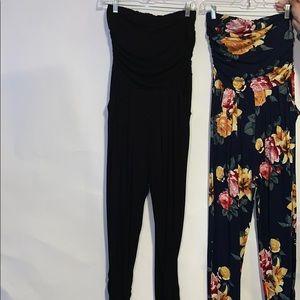 Pants - Women's size large strapless jumpsuits